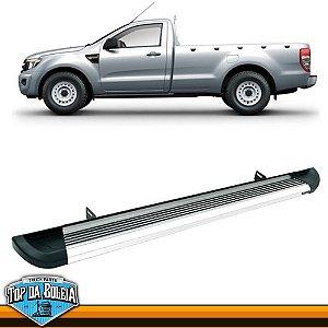 Estribo Lateral Alumínio G2 Polido para Pick-up Ford Ranger Cabine Simples à Partir de 2013