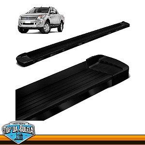 Estribo Lateral Alumínio Elegance Preto para Pick-up Ford Ranger Cabine Dupla à Partir de 2013