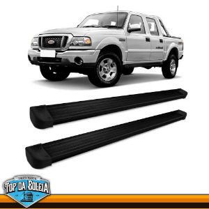 Estribo Lateral Elegance G3 Preto para Pick-up Ford Ranger Inferior á 2012