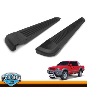 Estribo Lateral Alumínio G2 Preto para Pick-up Mitsubishi L200 Outdoor de 2004 á 2012