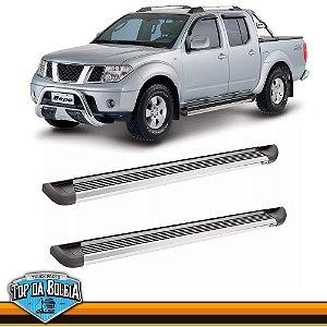 Estribo Alumínio G2 Polido para Pick-up Nissan Frontier Cabine Dupla de 2008 á 2015