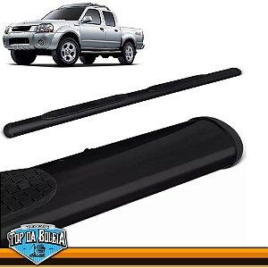 Estribo Alumínio Oval preto para Nissan Frontier Cabine Dupla de 2003 á 2007