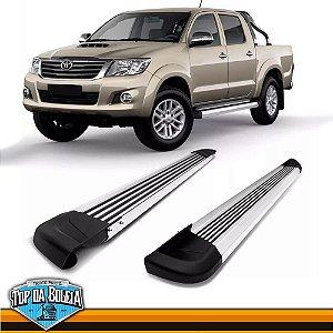 Estribo Alumínio G2 Polido para Pick-up Toyota Hilux de 2006 à 2015 Cabine Dupla