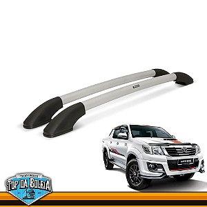 Longarina Universal Elegance com Parafusos Prata para Toyota Hilux de 2006 à 2015 Cabine Dupla