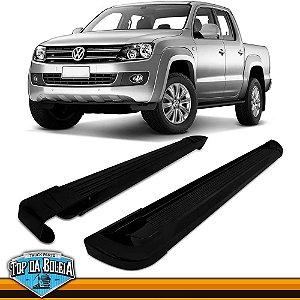 Estribo Alumínio G2 Preto para Pick-up Volkswagen Amarok Cabine Dupla