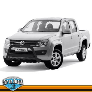 Quebra Mato Universal Elegance com Barra Preto para Volkswagen Amarok