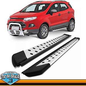 Estribo Alumínio Plataforma Prata para Ford Ecosport à partir de 2013
