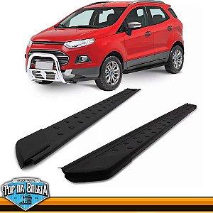 Estribo Alumínio Plataforma Preto para Ford Ecosport à partir de 2013