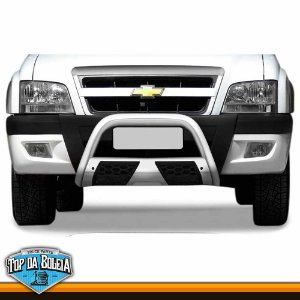 Quebra Mato Com Grade Colmeia Cromado para Caminhonete Chevrolet S10 inferior à 2011