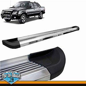 Estribo Alumínio G2 Polido para Chevrolet S10 Cabine Dupla Inferior à 2011