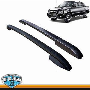 Longarina de Teto Universal Executive Preto bepo para Caminhonete Chevrolet S10 Inferior à 2011 Cabine Dupla