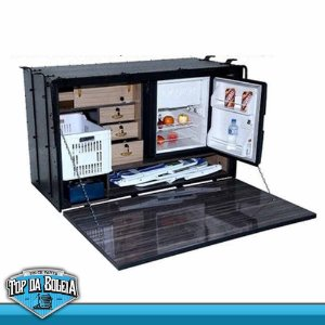 Caixa de Cozinha Caminhão Caibi Mega para Acoplar Geladeira Elber 65 Litros 1,40 x 85 x 63