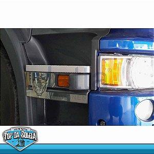 Par de Acabamentos em Inox Estribo Scania a Partir de 2011