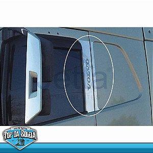 Conjunto em Inox Coluna da Porta para Volvo FH a Partir de 2015