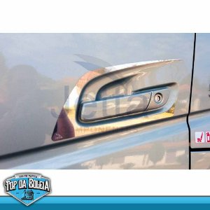 Par Moldura de Porta Clean Inox Maçaneta Volvo FH a Partir 2015