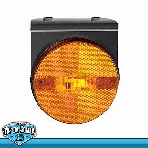 Lanterna LED Posição Retrorrefletor com Suportes (1270/2) Acrílico Ambar 24v