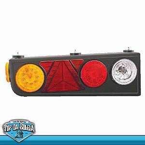 Lanterna Traseira LED Semi-Reboque / Ré com Lâmpadas / com Triângulo (2055) Lado Direito 24v