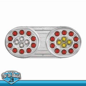Lanterna Traseira LED Universal Lado Esquerdo 24v Cristal