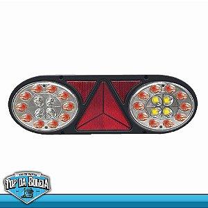 Lanterna Traseira LED Multifunção (3003) 24v Cristal Lado Esquerdo
