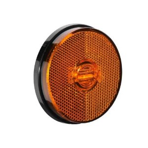 Lanterna Lateral Carreta Led Bivolt 12v 24v Ambar sem Suporte