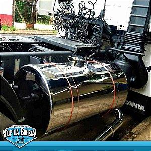 Tanque de Combustível de inox Caminhão Tanksul 400 Litros Completo 660 x 1250