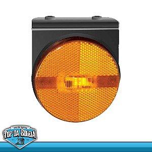 Lanterna LED Posição Retrorrefletor com Suporte (1270/4) Acrílico Ambar / Rubi / Cristal / Verde 24v