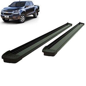 Estribo Alumínio Elegance Preto para Chevrolet S-10 Cabine Dupla à partir de 2012