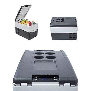 Geladeira Portátil Resfriar 110v 220v 12v 24v 31 Litros Digital Quadrivolt