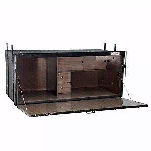 Caixa De Cozinha para Caminhão Cavalli Geladeira 670 x 1550 x600