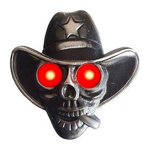 Caveira Cowboy Para Caminhão Led Bivolt