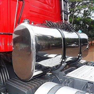 Kit Tanque Combustível Oval Inox Plataforma 350 Litros