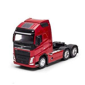 Miniatura Caminhão New Volvo Fh 500 6x2 Escala 1:32 Vermelho