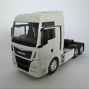 Miniatura Caminhão Man Tgx Trucado 6x2 Escala 1:32 Branco