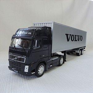 Miniatura Caminhão Baú Volvo FH12 1:32