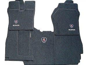 Jogo de tapetes para caminhão Scania cabine P Carpete Luxo