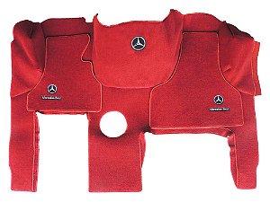 Jogo de tapetes para caminhão Mercedes Axor Carpete Luxo