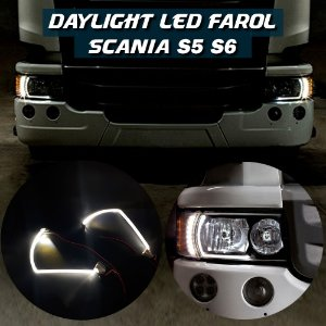 Daylight Led Farol Scania S5 S6 Luz Diurna