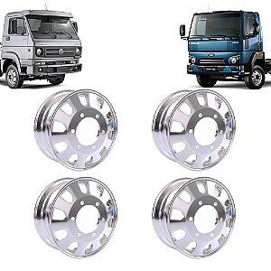 Kit 4 Rodas de Alumínio Caminhão Ford Cargo 1119 VW 10160