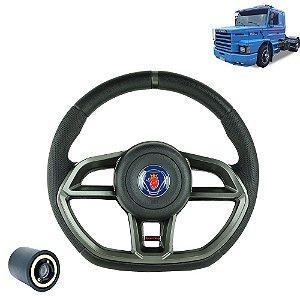Volante esportivo para caminhão Scania 112 c/cubo mod Golf GTI
