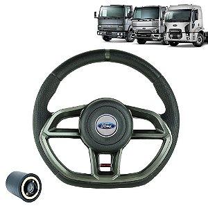 Volante esportivo para caminhão Ford Cargo c/cubo mod Golf GTI