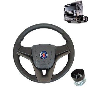 Volante esportivo para caminhão Scania S4 c/cubo mod Cruze