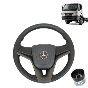 Volante esportivo para caminhão MB Accelo c/cubo mod Cruze