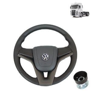 Volante esportivo para caminhão VW Constellation c/cubo mod Cruze