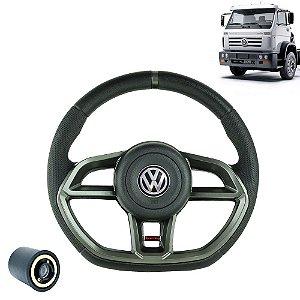 Volante esportivo para caminhão VW Worker c/cubo mod Golf GTI