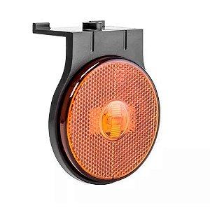 Lanterna lateral de led Laranja Carreta 65 mm 12V 24V com conector