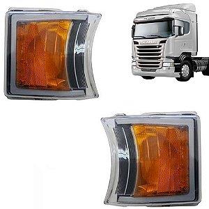Par Lanterna Dianteira Pisca Led Scania S5 1747981 2241544