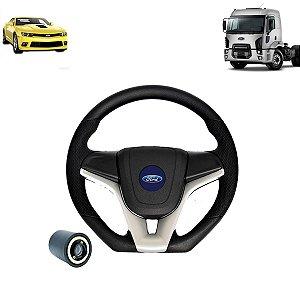 Volante esportivo para caminhão Ford Cargo c/cubo mod Camaro