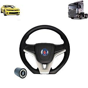 Volante esportivo para caminhão Scania S4 c/cubo mod Camaro