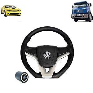 Volante esportivo para caminhão VW Titan c/cubo mod Camaro
