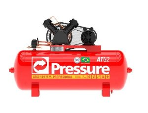 Compressor 15 Pés 175 Litros 140 Libras Monofásico ATG2 - PRESSURE-ATG215/175